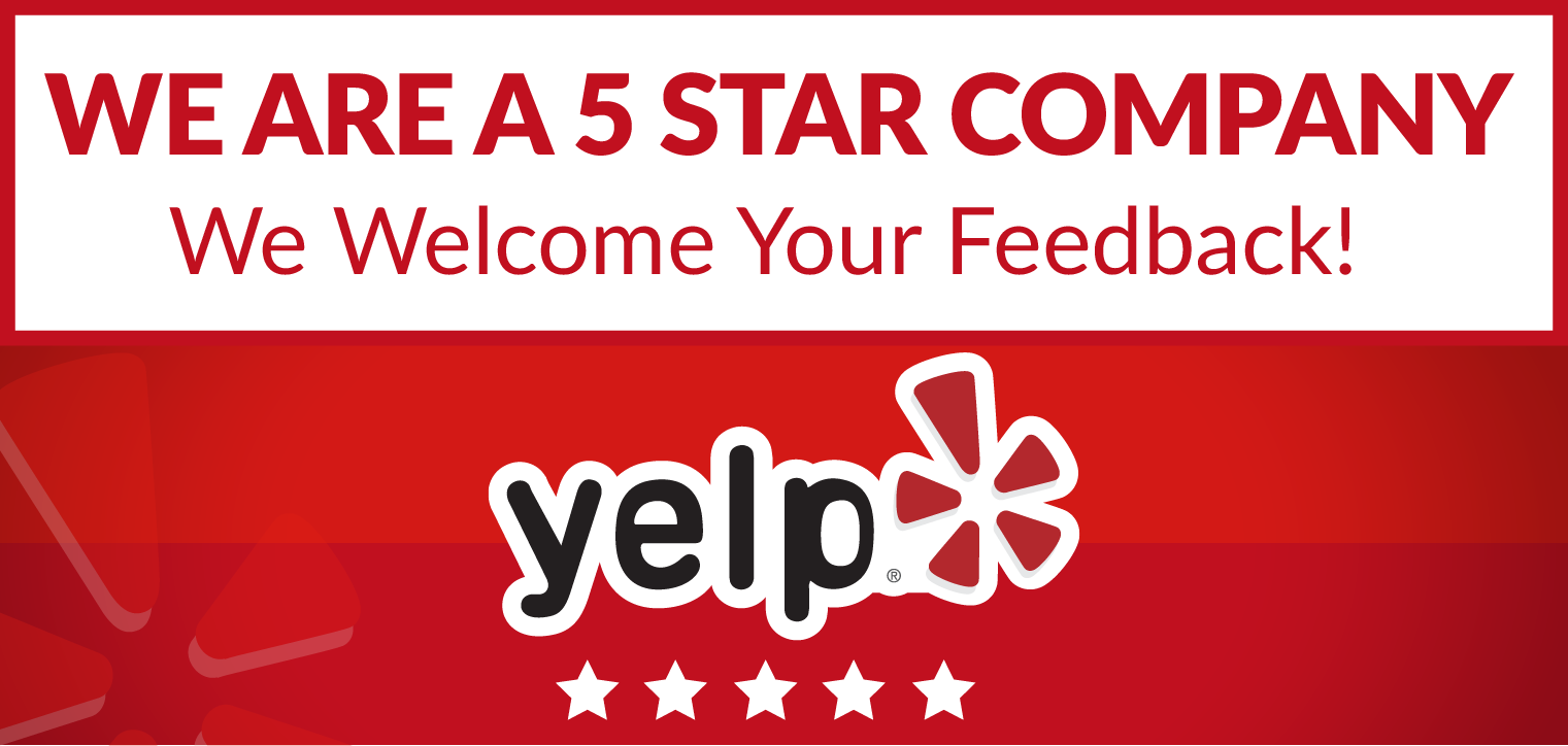 5 out of 5 On Yelp!